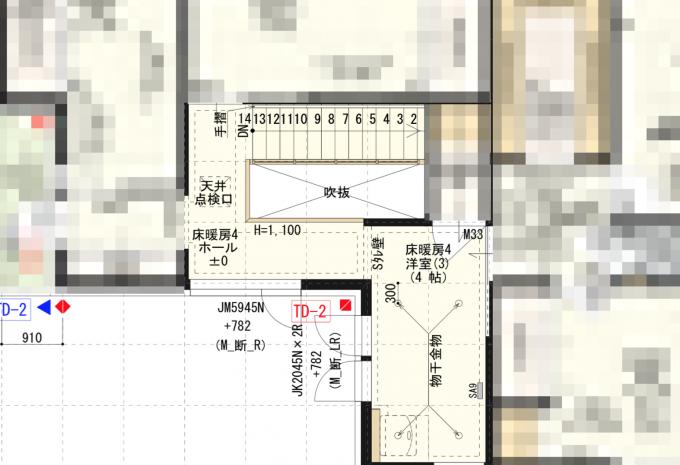高耐久壁紙にした部分2階