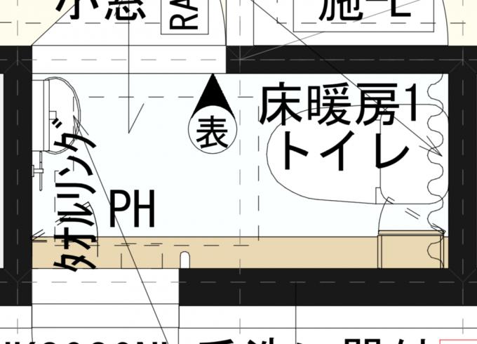 1階のトイレの図面