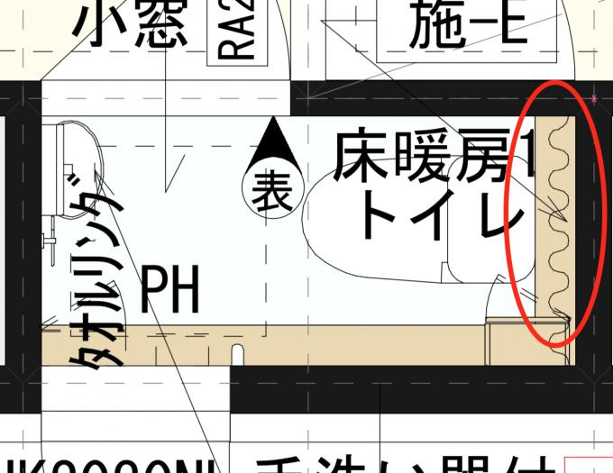当初の1階トイレの図面