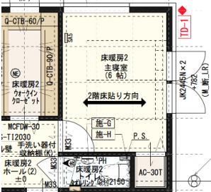 寝室の図面
