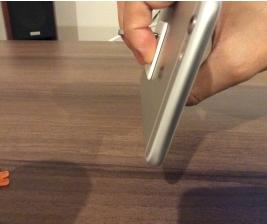 バンカーリングを付けたiPhone