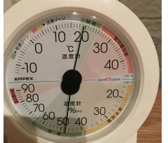 リビングの温度と湿度
