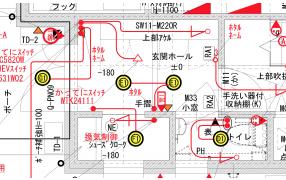 玄関の電気配線図