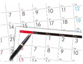 週末のカレンダー