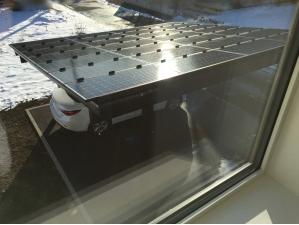 太陽光パネルの雪