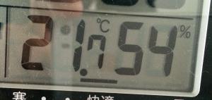 書斎の気温
