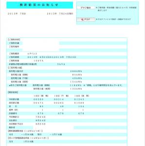 2015年7月分電気料金内訳