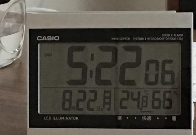 エアコンを付けたままの朝の湿度と温度