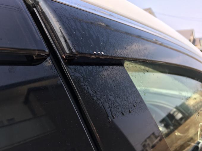 車の窓にも殺虫剤