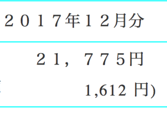 2017年12月分の電気代