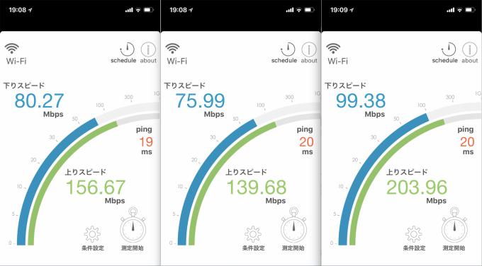 2階子供部屋のWi-Fi速度