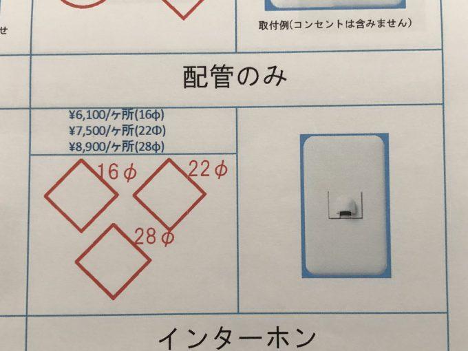 空配管のオプション