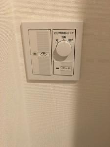 玄関の照明スイッチ