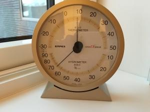 -20℃ハニカム内の温度と湿度
