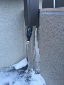 排水パイプ・雨樋の凍結