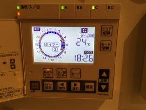 5月の2階の床暖房設定温度