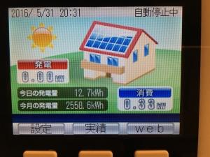 2016年5月初日〜末日までの発電量