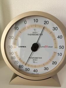 洗濯室の湿度計