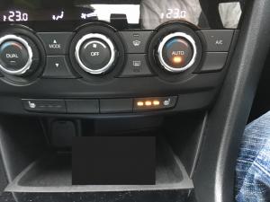 車内の温度設定