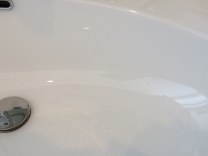 洗面器掃除後