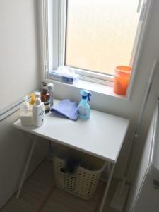 洗面所の洗濯かご置き場