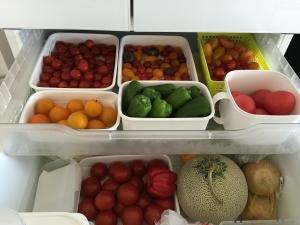 冷蔵庫いっぱいのトマト