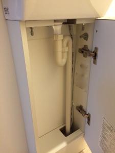 2階手動水栓のコフレルの収納部分