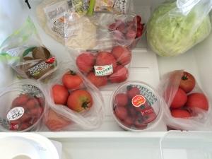 野菜室下段のトマト