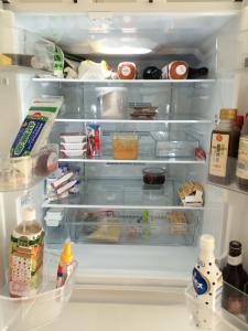 冷蔵室の中