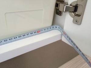 洗面台下収納全体の横幅