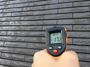 外壁タイルの温度