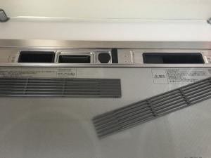 IH標準の排気口カバーを外す
