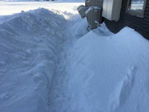 室外機の除雪
