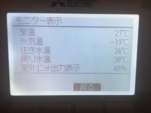 寒冷地の外気温