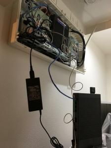 速度計測時のフレッツ光回線終端装置