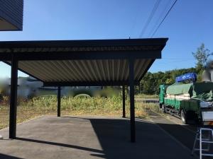 ソーラーカーポートの耐震補強工事