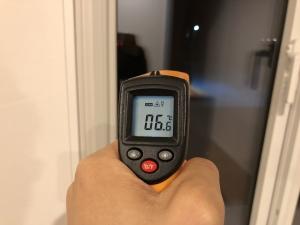 窓中心部分の温度