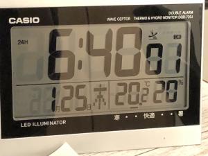 寒波の日の朝の室温3